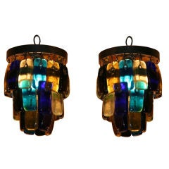 Pair of Mid Centruy Studio Pendant Lights