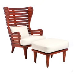 Matt Stoich - Linear Wing Chair and Ottoman, Indoor/Outdoor