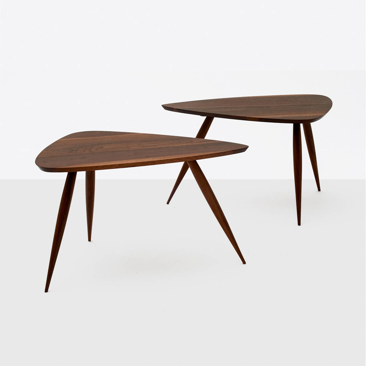 American Pair of Occasional Tables by Phillip Lloyd Powell For Sale