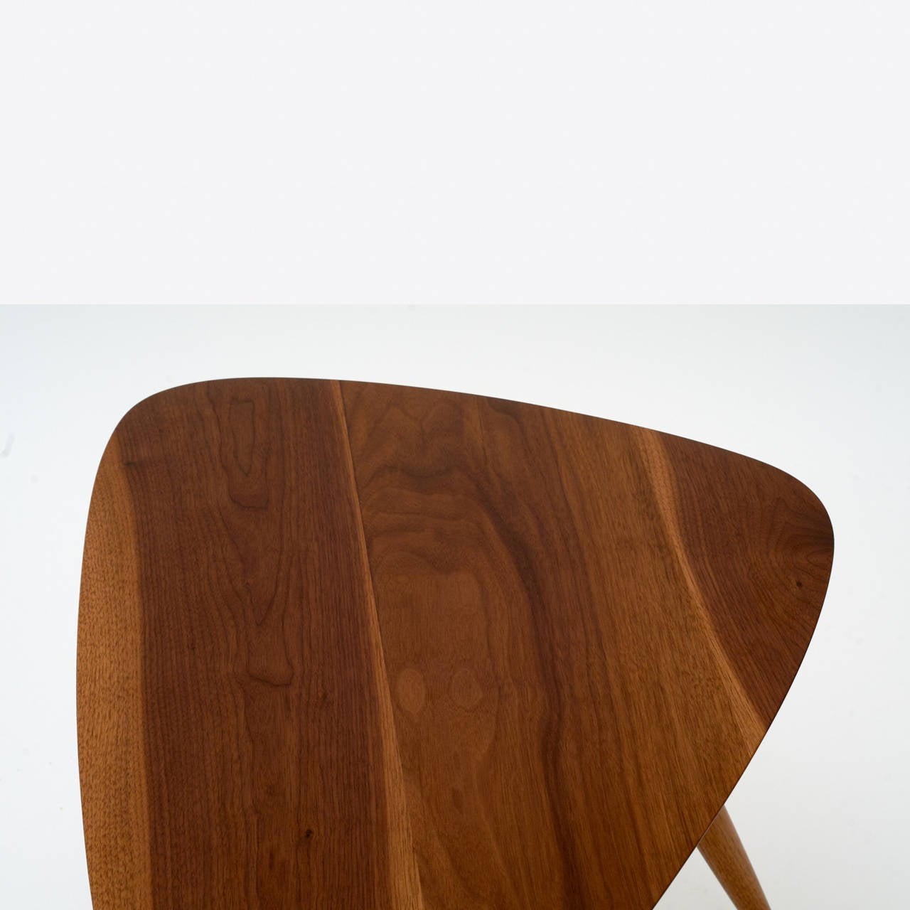 Walnut Pair of Occasional Tables by Phillip Lloyd Powell For Sale
