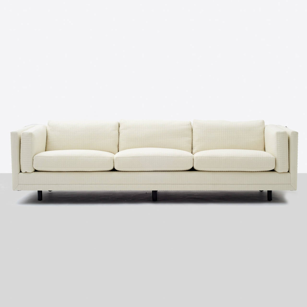 harvey probber tuxedo sofa for sale at 1stdibs. Black Bedroom Furniture Sets. Home Design Ideas