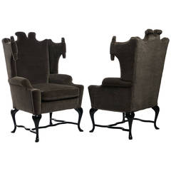 Arturo Pani Wingback Chairs