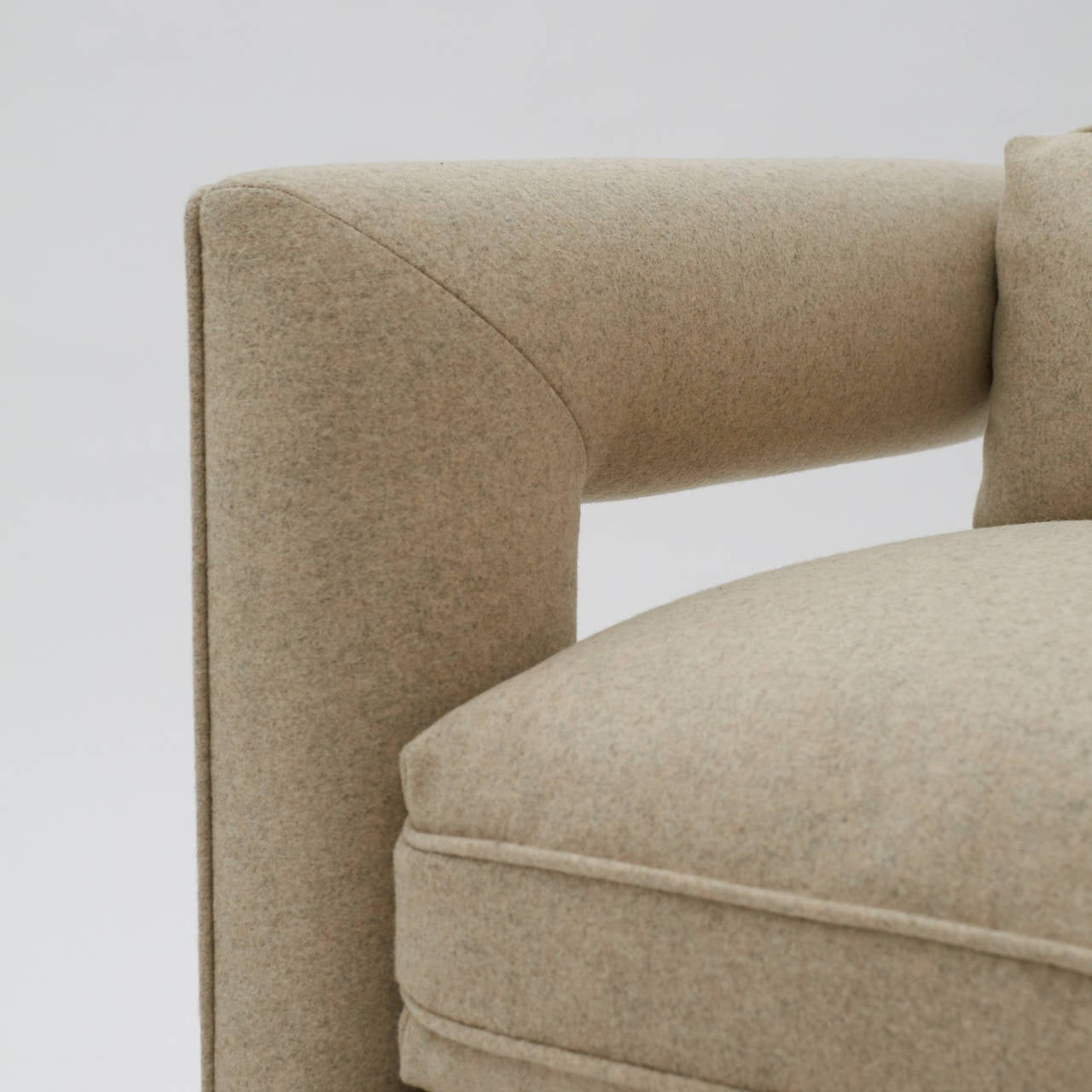 Milo Baughman, Cut-Out Lounge Chairs For Sale 1