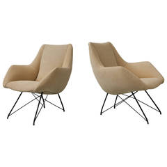Pair of Armchairs by Carlo Hauner