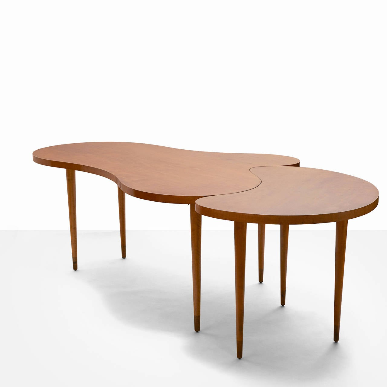 Bow Window Curved Window Seating Narrow Tall Fixed: Edmond Spence Two-Part Maple Dining Table At 1stdibs