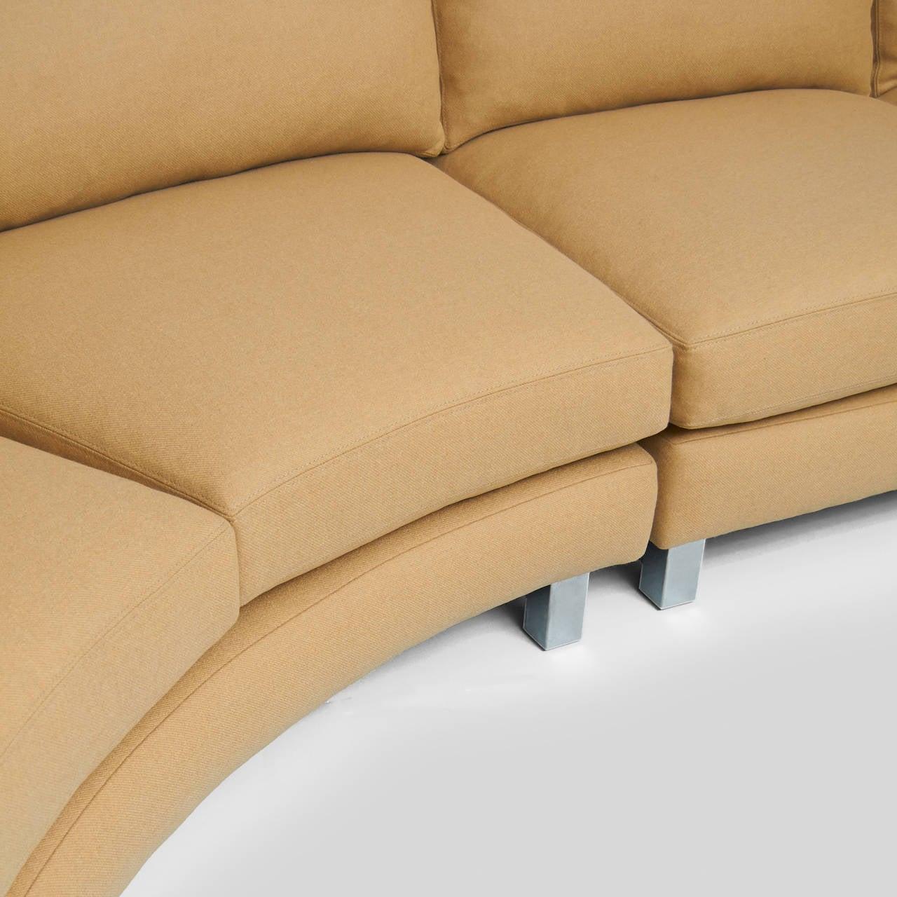 Mid-Century Modern Milo Baughman Sectional Sofa For Sale