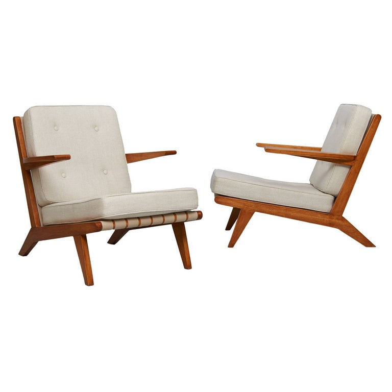 "Pair of Joaquim Tenreiro ""Sleepwalker's"" Armchair For Sale"