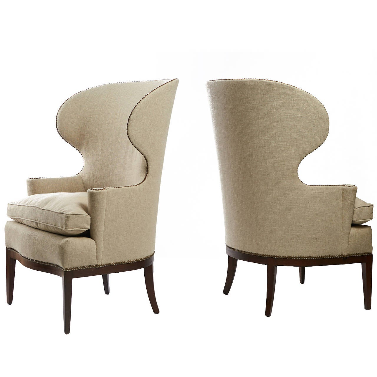 Edward Wormley Early Wing Chairs For Sale