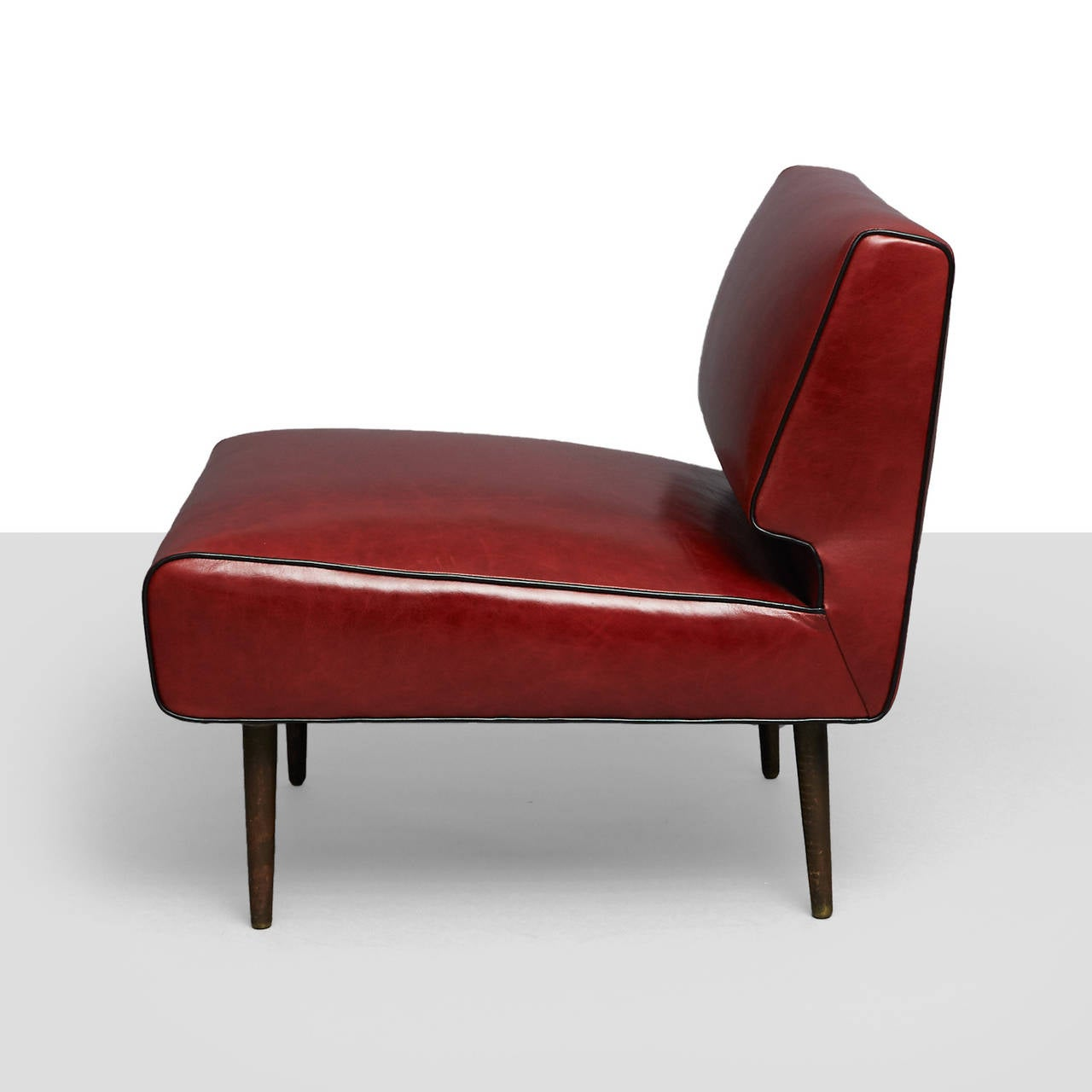 American Edward Wormley Channel Back Chairs, Model No. 4827 For Sale