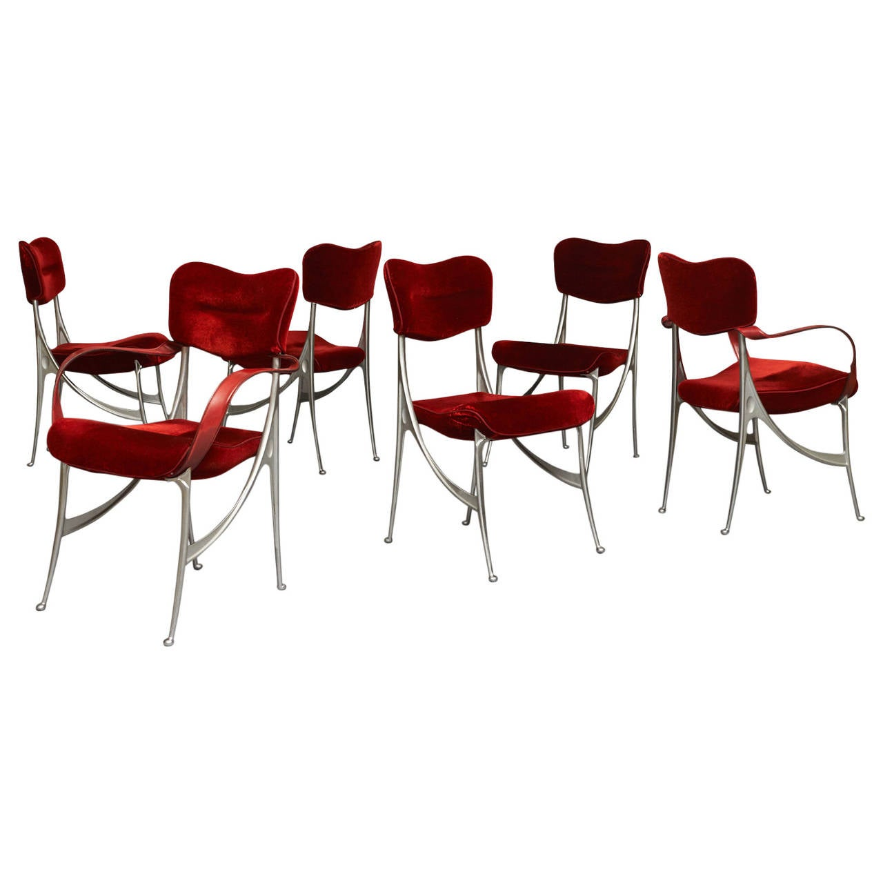 Set of Six Oscar Tusquets Lucas Dining Chairs For Sale