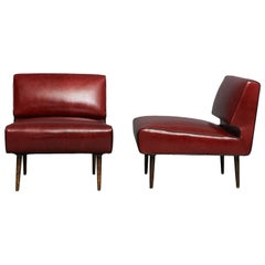 Edward Wormley Channel Back Chairs, Model No. 4827