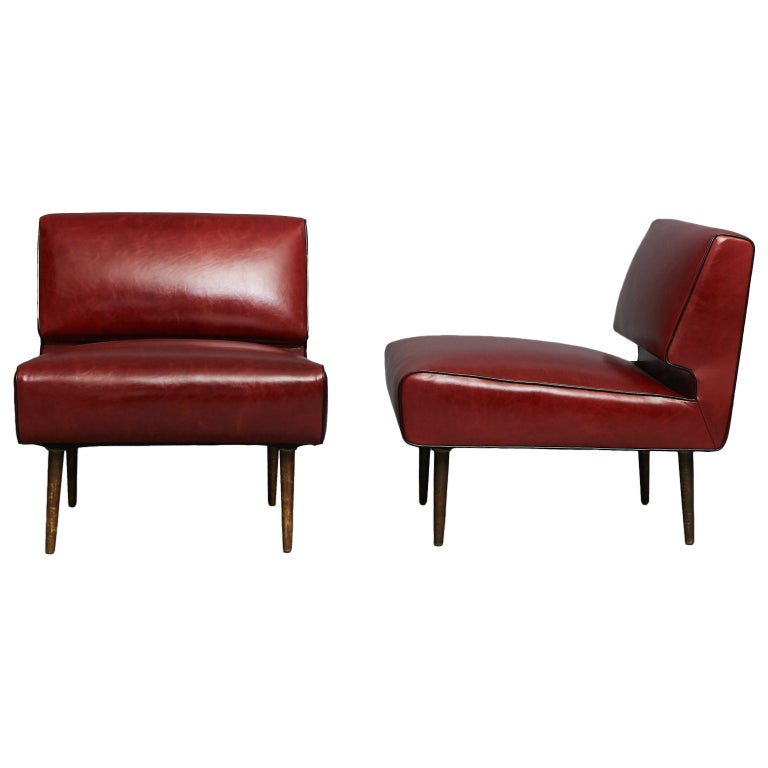 Edward Wormley Channel Back Chairs, Model No. 4827 For Sale