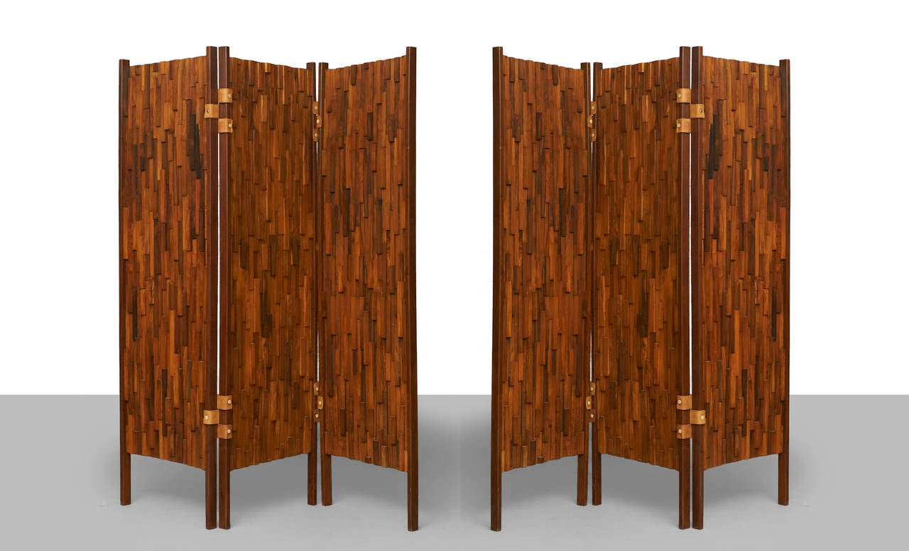 Modern Pair of Rosewood Screens For Sale