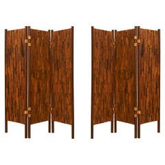 Pair of Rosewood Screens
