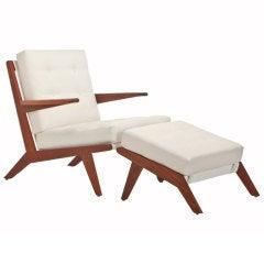 Matt Stoich - Open Arm Chair and Ottoman