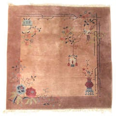 Chinese Art Deco Square Rug