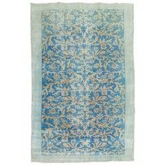Vintage Turkish Turquoise Rug