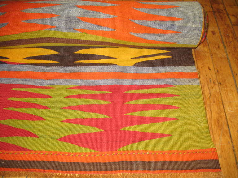 Vintage Turkish Kilim Runner 4