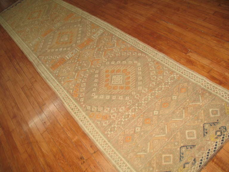 Moroccan Kilim Runner In Excellent Condition For Sale In New York, NY