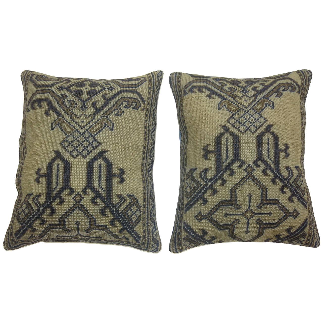 Antique Turkish Oushak Rug Pillows At 1stdibs