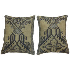 Antique Turkish Oushak Rug Pillows