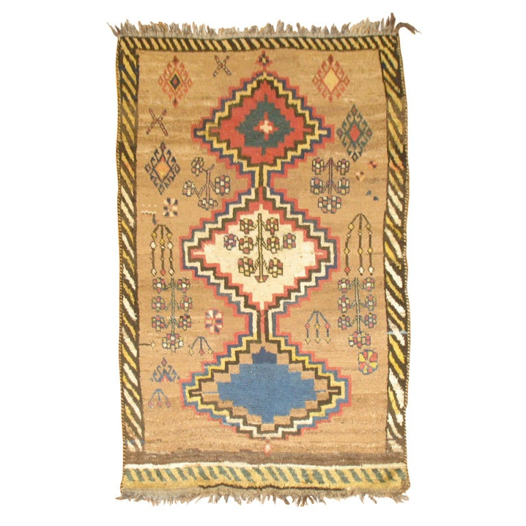 Antique Persian Gabbeh Rug For Sale