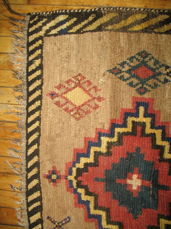 Hand-Crafted Antique Persian Gabbeh Rug For Sale