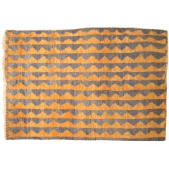 Vintage Turkish Tulu Rug in Orange & Purple