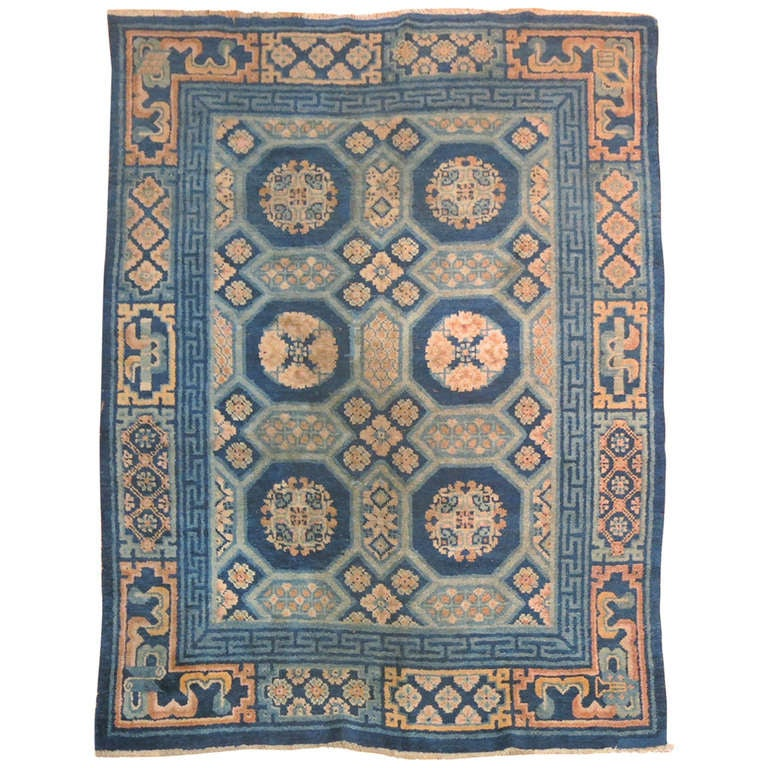 Antique Chinese Rug: Antique Chinese Peking Small Rug At 1stdibs