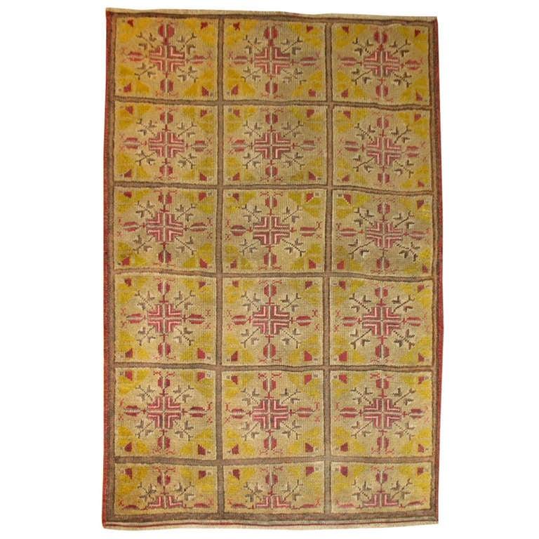 Vintage Khotan Rug For Sale