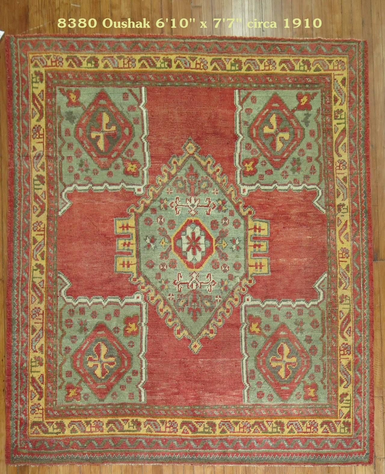 Antique Turkish Medallion Oushak Rug For Sale At 1stdibs