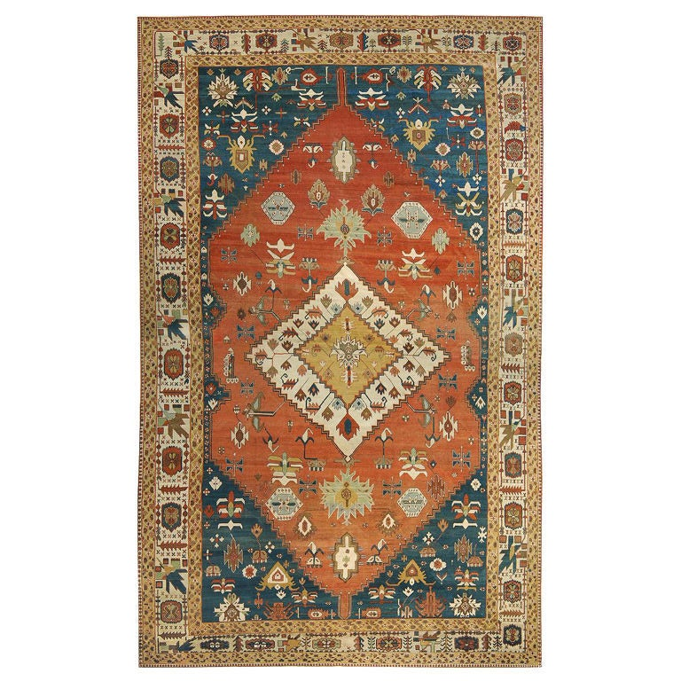 Persian Rugs For Sale: Antique Bakshaish Rug For Sale At 1stdibs