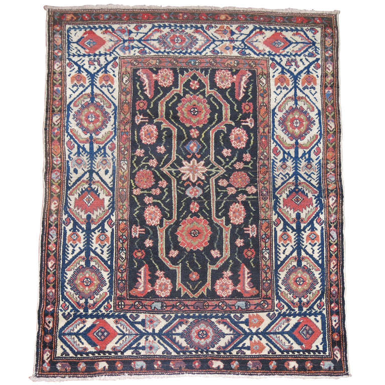 antique malayer throw rug for sale at 1stdibs. Black Bedroom Furniture Sets. Home Design Ideas
