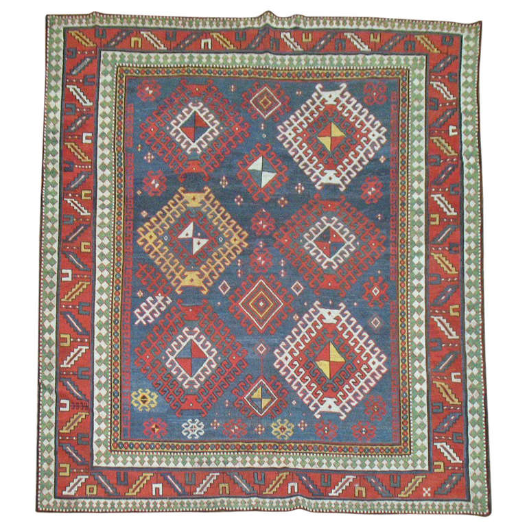 Antique Caucasian Kazak Rug At 1stdibs