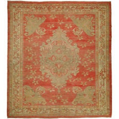 Floral Antique Turkish Ghiordes Rug
