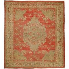 Floral Antique Turkish Ghiordes Rug
