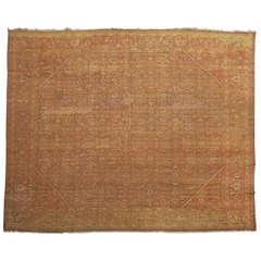Square Antique Persian Mahal Rug