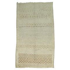 Vintage Turkish Checkered Rug