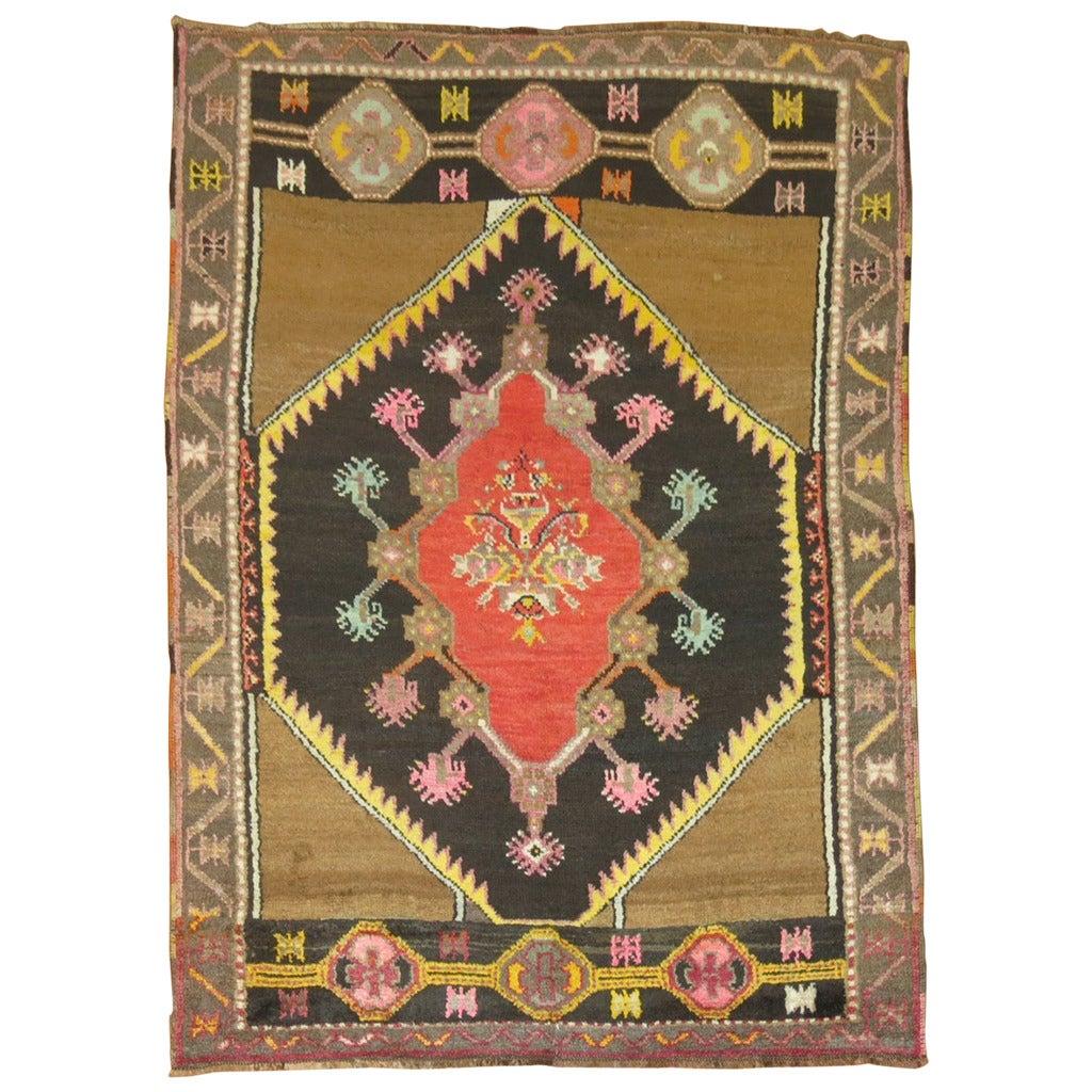 Vintage Throw Rugs: Vintage Turkish Anatolian Throw Rug At 1stdibs