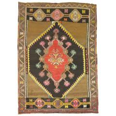 Vintage Turkish Anatolian Throw Rug