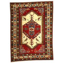Antique Pictorial Kazak Rug