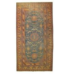 Blue 19th Century Khotan Gallery Rug