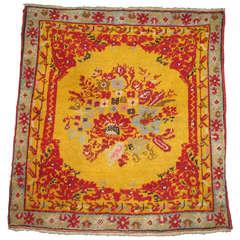Turkish Ghiordes Square Carpet