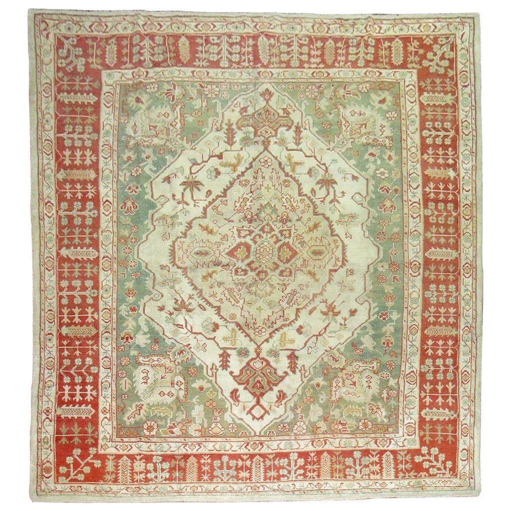 Antique Turkish Oushak Rug For Sale At 1stdibs