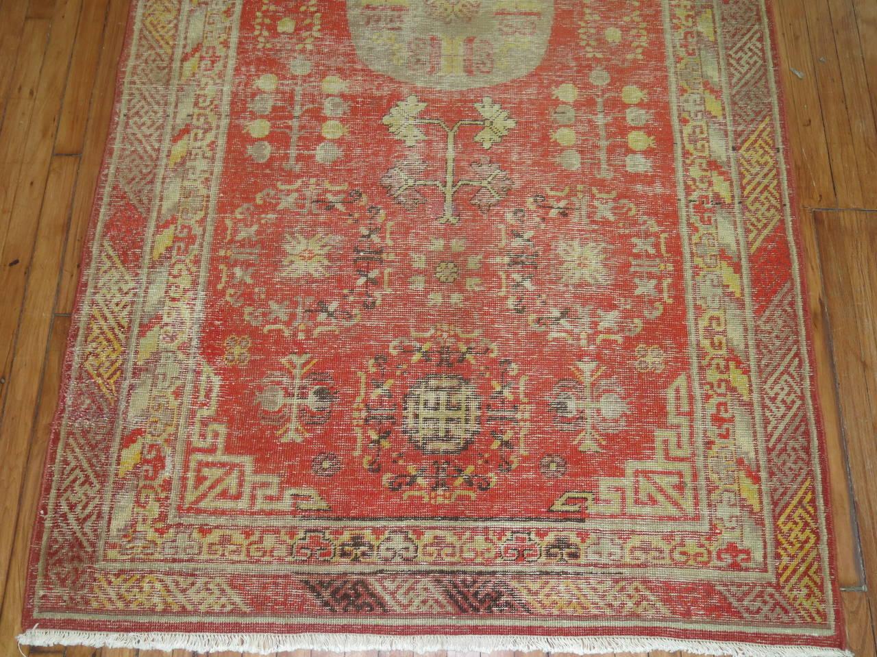 East Turkestani Antique Samarkand Rug For Sale