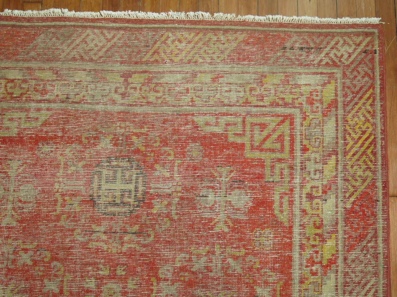 Authentic early 20th century Samarkand Khotan rug.