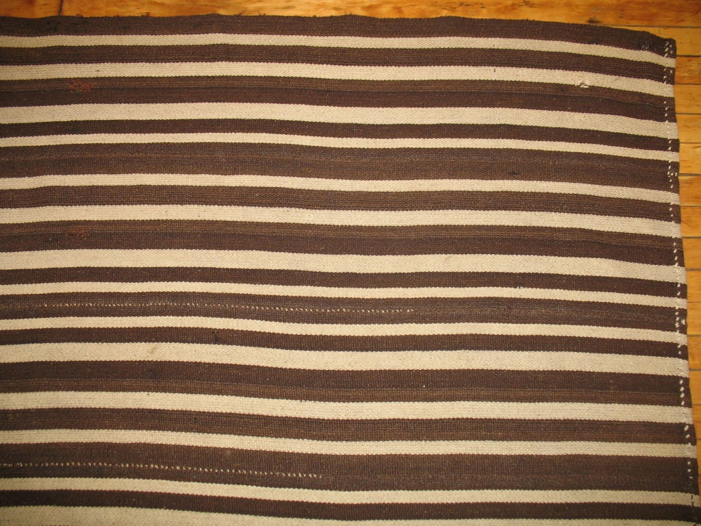 Turkish Vintage Striped Kilim For Sale