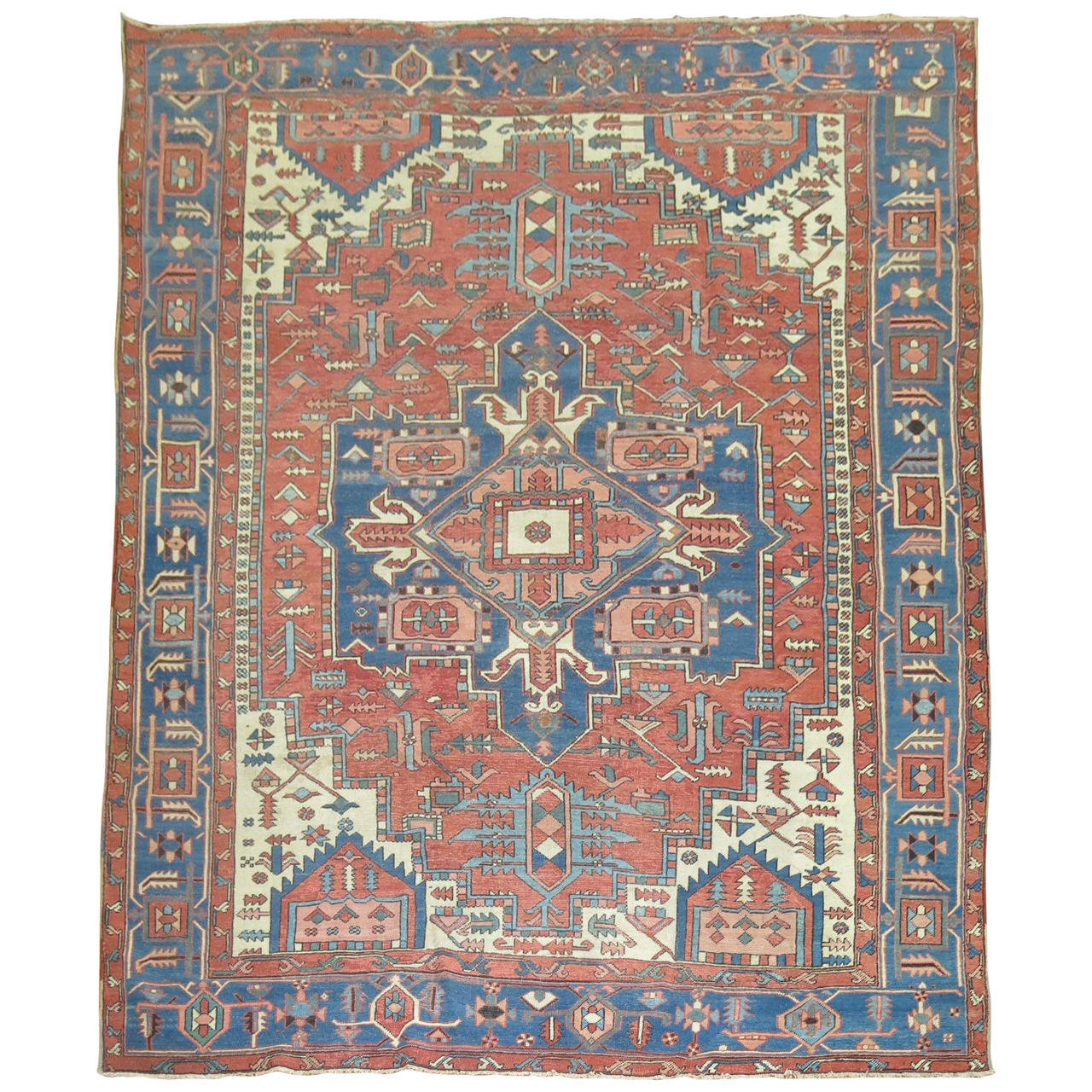 Persian Rugs For Sale: Antique Persian Serapi Rug For Sale At 1stdibs