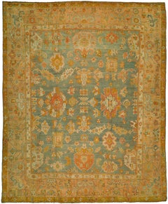 Antique Oushak Rug from Central Anatolia