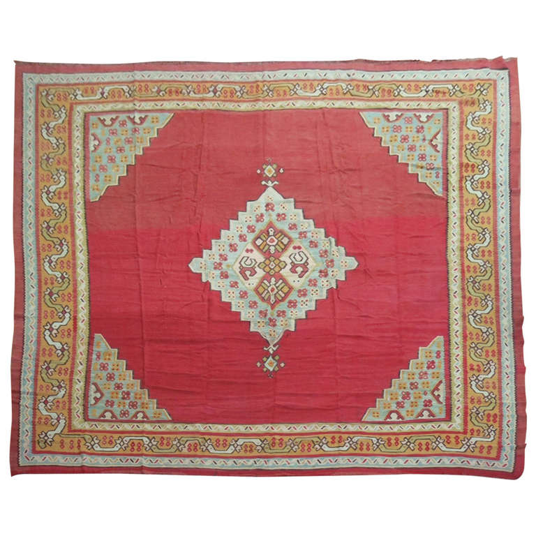 Antique Oushak Kilim